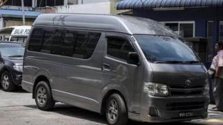 جسد کیم جونگ نام با این خودرو از سردخانه به فرودگاه کوالالامپور منتقل شد
