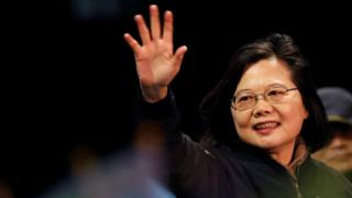 Taiwan's President Tsai Ing-wen attends a campaign rally ahead of the presidential election in Taoyuan, Taiwan January 8, 2020.