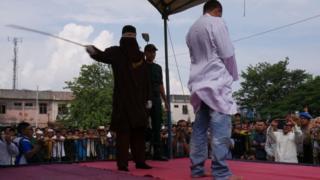 Aceh, Syariat Islam, cambuk