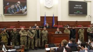 Представители националистических партий и организаций требовали признать добровольцев участниками боевых действий на Донбассе
