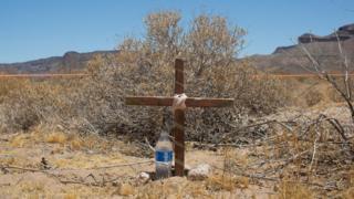 Arizona'da bir mezarlık