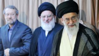 رهبر ایران و روسای مجلس و مجمع تشخیص
