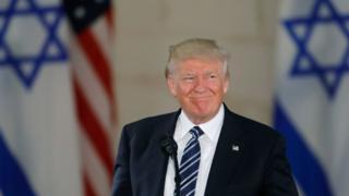 El presidente de EE.UU., Donald Trump, durante una visita al Museo de Israel, en Jerusalén, mayo de 2017