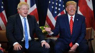 Boris Johnson and Donald Trump in September 2019