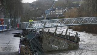 Hawick flood damage