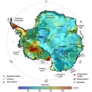 Geothermal heat flux