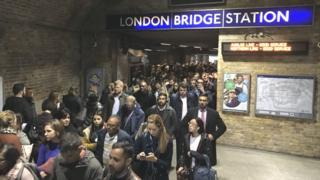 Crowds at London Bridge