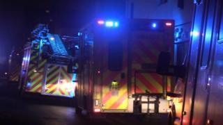 Brighton fire scene