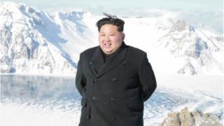 지난 12월 백두산 오른 김정은 위원장