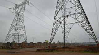 Torres de electricidad en Brasil.
