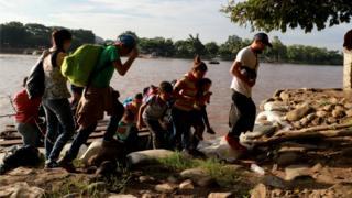 Migrantes frontera sur