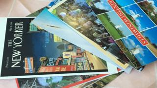 Postcards received by the home