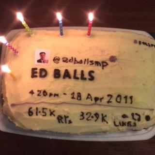 Ed Balls' Ed Balls cake