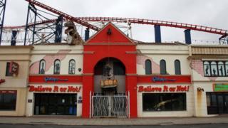 Closed attraction on Blackpool promenade