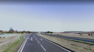 A90 north of Fordoun