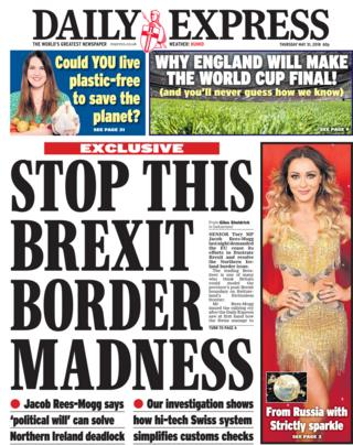 Daily Express front page - 31/05/18