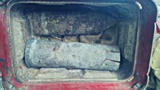 The 18lb ordnance discovered in Cookham
