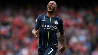 Raheem Sterling dey celebrate goal