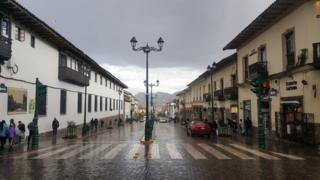 Calle en Cuzco, Perú