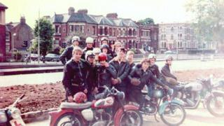 59 Club ride-out to the seaside, 1969