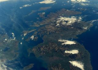 Isle of Man from space