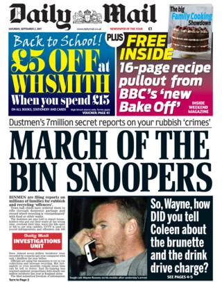 Mail front page