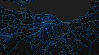 Edinburgh- cycling routes (by Strava users 2015)