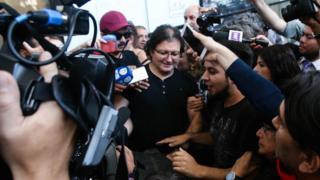 Patricio Ortiz Montenegro is welcomed upon his arrival to Santiago, Chile, 1 February 2019