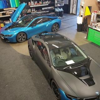 Two BMW i8s