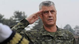 President Hashim Thaci attends a ceremony of security forces in Pristina, Kosovo, December 13, 2018