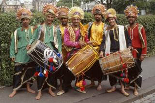 Bhangra dancers from Glasgow