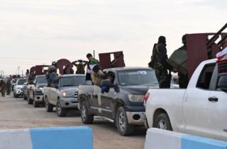 Afrin'e doğru ilerleyen Suriye hükümeti yanlısı milis güçler