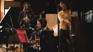 Mumford & Sons in the studio