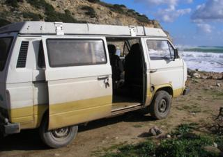 in_pictures A handout photo issued by Metropolitan Police of a VW T3 Westfalia campervan that has been linked to the suspect