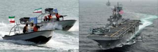 یواساس باکسر و قایق گشتی سپاه
