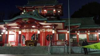 El templo Tomioka Hachimangu