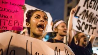 Protesta en Charlotte