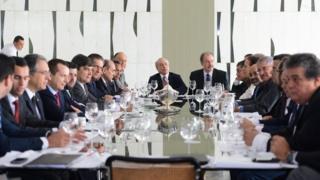 Reunião de Temer com líderes da base aliada em maio