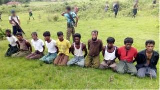 အင်းဒင်ရွာမှာ သတ်ဖြတ်ခဲ့ရတဲ့ မွတ်ဆလင်ရွာသားများ