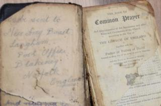 Cpl Crawford's prayer book