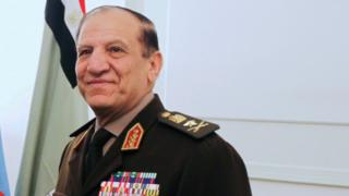 Egypt's Chief of Staff of the Armed Forces Sami Anan during a meeting in Cairo in 2011