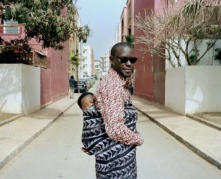 A father and his child in Dakar