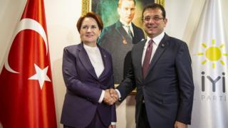 İYİ Parti Genel Başkanı Meral Akşener ve Ekrem İmamoğlu