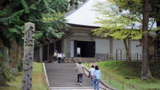 Konjikido, the golden hall at Chusonji temple in the historical town of Hiraizumi