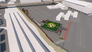 Artists impression of a helipad