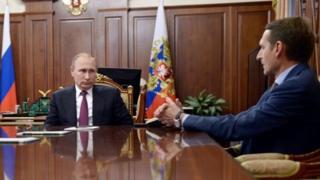 Vladimir Putin ve Sergey Narişkin