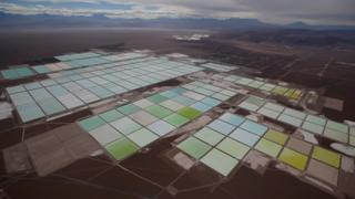 lithium salt pools aerial view