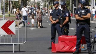 Municipal police in Nice, 17 July 16