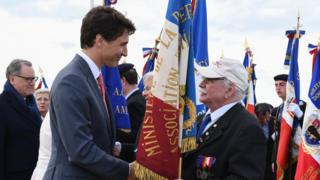 Canadian Prime Minister Justin Trudeau also attended the D-Day commemorations in Normandy