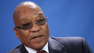 South African President Jacob Zuma on November 10, 2015 in Berlin, Germany